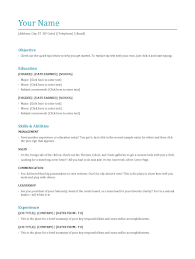 No Work Experience Resume Template Resume Templates For High School Students With No Work Experience 91