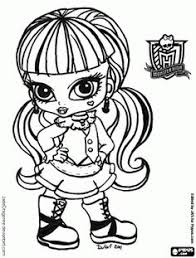 Small Picture Monster High Pets Coloring Pages Monster High coloring page and