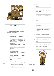 And/ But Elementary Worksheet
