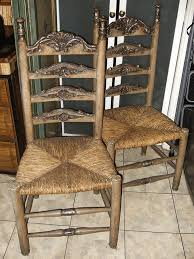 painted dining chairs with rush seats. vintage ladder back chairs rush seats painted dining with n