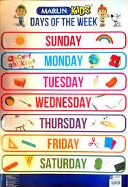 Week Chart Chart Days Of The Week