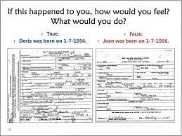 False Information On Birth Certificate Forbidden Family