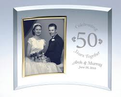 a personalized curved gl picture frame a clic anniversary or wedding gift