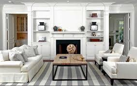 gray striped rug