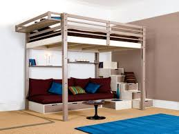 ... Full size of Queen Size Loft Bed Bedroom Furniture Beds With Drawers  Girls Bunk Kids Q ...