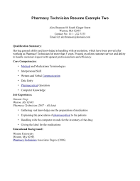 Example Of Pharmacy Technician Resume Examples Of Resumes