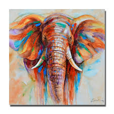 hand painted oil painting on canvas abstract elephant paintings modern decoration wall art living room decor picture no framed in painting calligraphy
