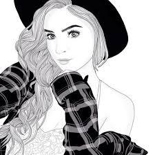 Imagen De Girl Outline And Art P I N T E R E S T At Iamroosevelt