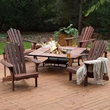 belham living richmond deluxe 5 piece adirondack chair fire pit set hayneedle