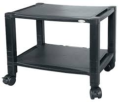 sintechno mobile printer stand with storage black glass hardware series 3 tier 2 shelf under desk x intended for prepare home
