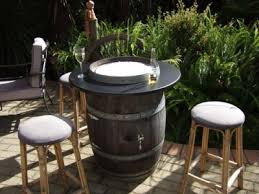 outdoor wine barrel table stunning convert a into safe firepit interior design 7