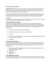 How To Write A Good Resume Stunning Write A Great Resume How Writing Good Excellent Throughout To