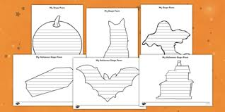 Poetry Templates Free Halloween Shape Poetry Templates Halloween Shape