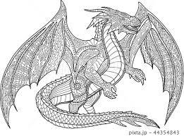 シルエット 龍 ドラゴンのイラスト素材 Pixta
