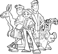 Wild Kratts Coloring Pages Shows Wild Kratts Coloring Pages For