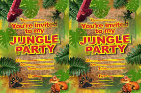 Free Printable Safari Birthday Invitations Free Printable Childrens Birthday Party Invitations