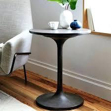 round black pedestal side table pedestal coffee table photo 1 of 5 concrete pedestal side table round black