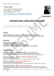 Cover Letter Land Surveyor Resume Professional Land Surveyor