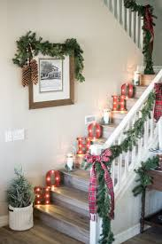 Decorating the Stairs. Marquee lights going up the stairs for a festive  look! Just Destiny Mag Christmas Tour