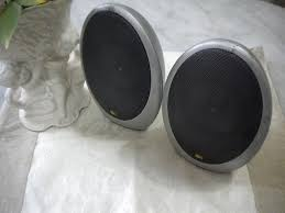 kef egg subwoofer. england kef egg shaped satellite desk top speakers kef subwoofer