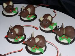 Christmas Mice Cookies