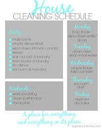 house cleaning schedule 3