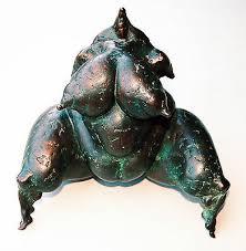 EWA ELISABETH WADE *1940:Erotischer Frauenakt Bronze-Skulptur massiv 20 x  23 cm - EUR 1.987,50 | PicClick DE