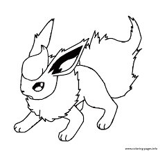 Coloring Books For Kids Flareon Eevee Pokemon Coloring Pages