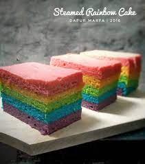 Tuangkan santan ke dalam adonan perlahan, aduk hingga rata. Steamed Rainbow Cake Rainbow Cake Kukus Dapur Marfa