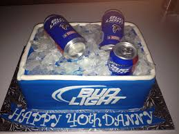 Bud Light Birthday Bud Light Cooler Of Beer Cake All Edible Except Beer