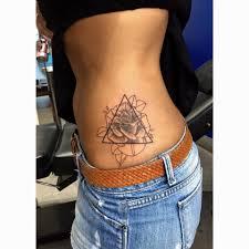 Dotwork Rose Triangle Tattoo Joe Kintz Tattooing