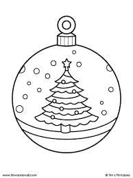These simple christmas coloring sheets. Christmas Ornament Coloring Page Christmas Tree Tim S Printables
