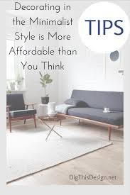 minimalist living room design on a budget