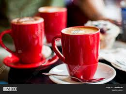 Coffee cup cappuccino coffee cup, red cups, cdr, white png. Red Coffee Cups Coffee Image Photo Free Trial Bigstock