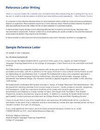 Write A Recommendation Letter For A Student Reference Letter Writing