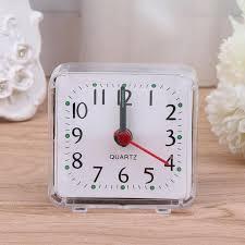Old School <b>Mini Square Quartz Beep</b> Alarm Clock Plastic Desk ...