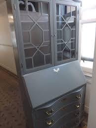 vintage antique secretary desk hutch drop front professionally painted via hpv in benjamin