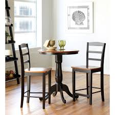 30 dining table set regarding international concepts black and cherry inch pedestal bar height remodel 4