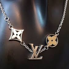 louis vuitton jewelry. louis vuitton jewelry - lv logos one-of--a-kind stainless steel r