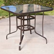 round glass top patio table luxury 40 inch outdoor patio dining table with glass top and umbrella