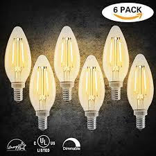 led dimmable candelabra bulbs e12 base led candle light bulbs chandelier led bulbs 2700k warm white c35 shape for indoor decorations 2w 20w incandescent