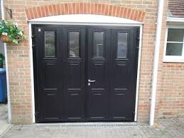 image of side hinged garage doors ovens