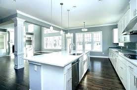 dark kitchen walls with white cabinets gray blue kitchens and66 with
