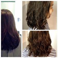 perming using olaplex art the klinik salon hair done by shiki