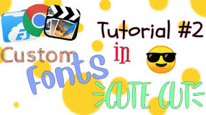 Cute Fonts For Android Tutorial 2 Add Custom Fonts To Cute Cut Android