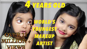the world s youngest makeup artist does her makeup 4 year old incredible aimalifestyle