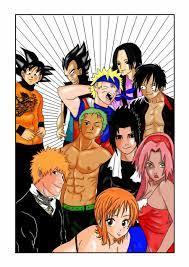Naruto One Piece and Bleach by Washi-sama on DeviantArt