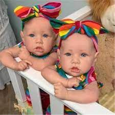 22''51CM Hai Chị Em Sinh Đôi Nhỏ Vệ Và Sariah Búp Bê Em Bé Gái Chất Lượng  Trung Thực Tay Bé Búp Bê Đồ Chơi|Dolls