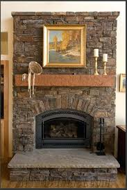 rustic fireplace decor interior living room with ...