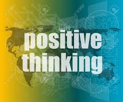 Positive Thinking On Screen Motivation Business Concept Vector